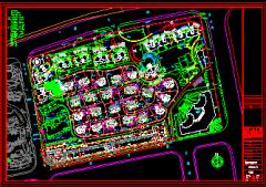 南块 浦东世纪花园2期归档全套设计图(别墅,会所,商业街,幼儿园)